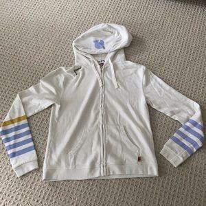 Free City X Gap White Zip-Up Sweatshirt